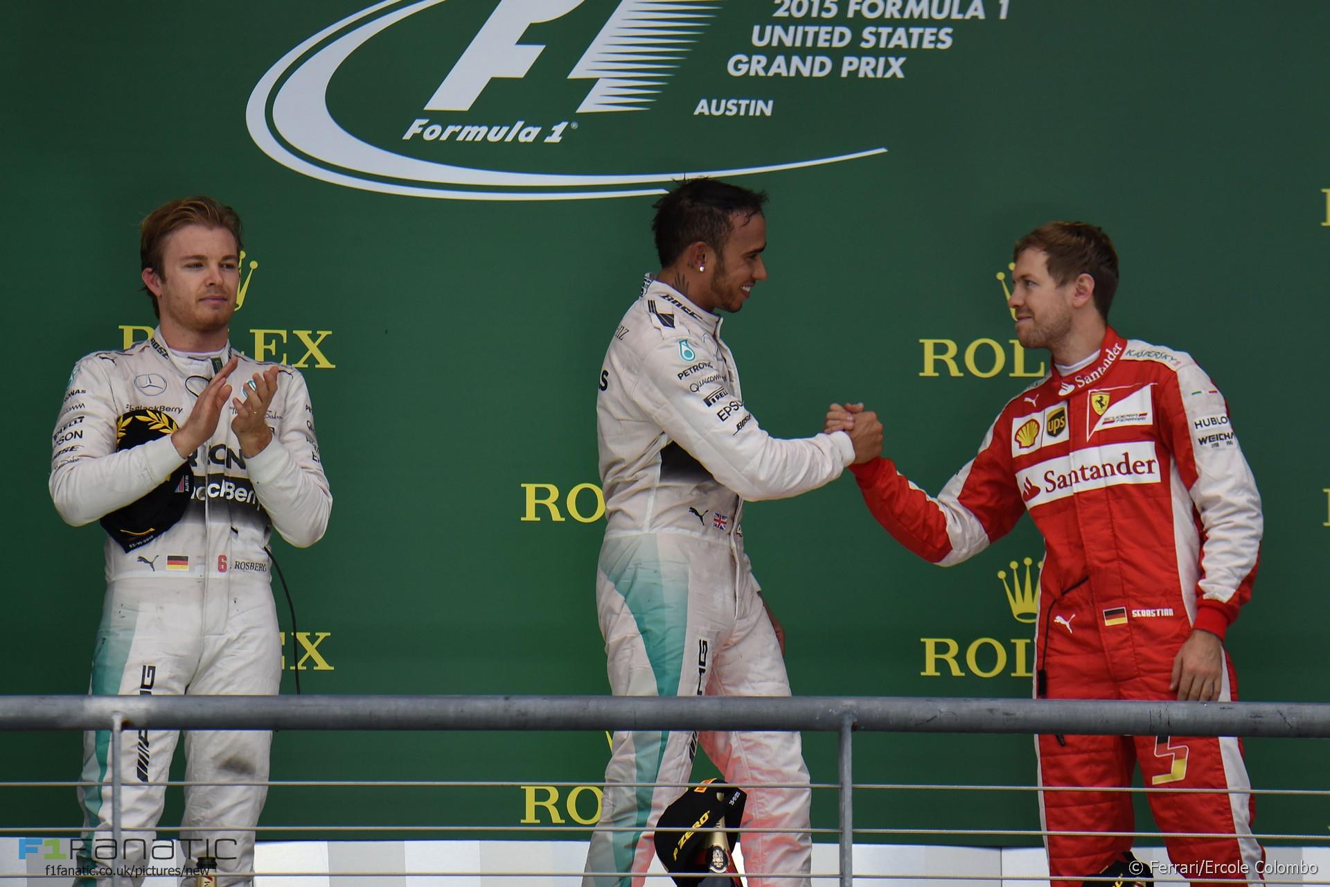 Lewis Hamilton, Sebastian Vettel, Circuit of the Americas, 2015