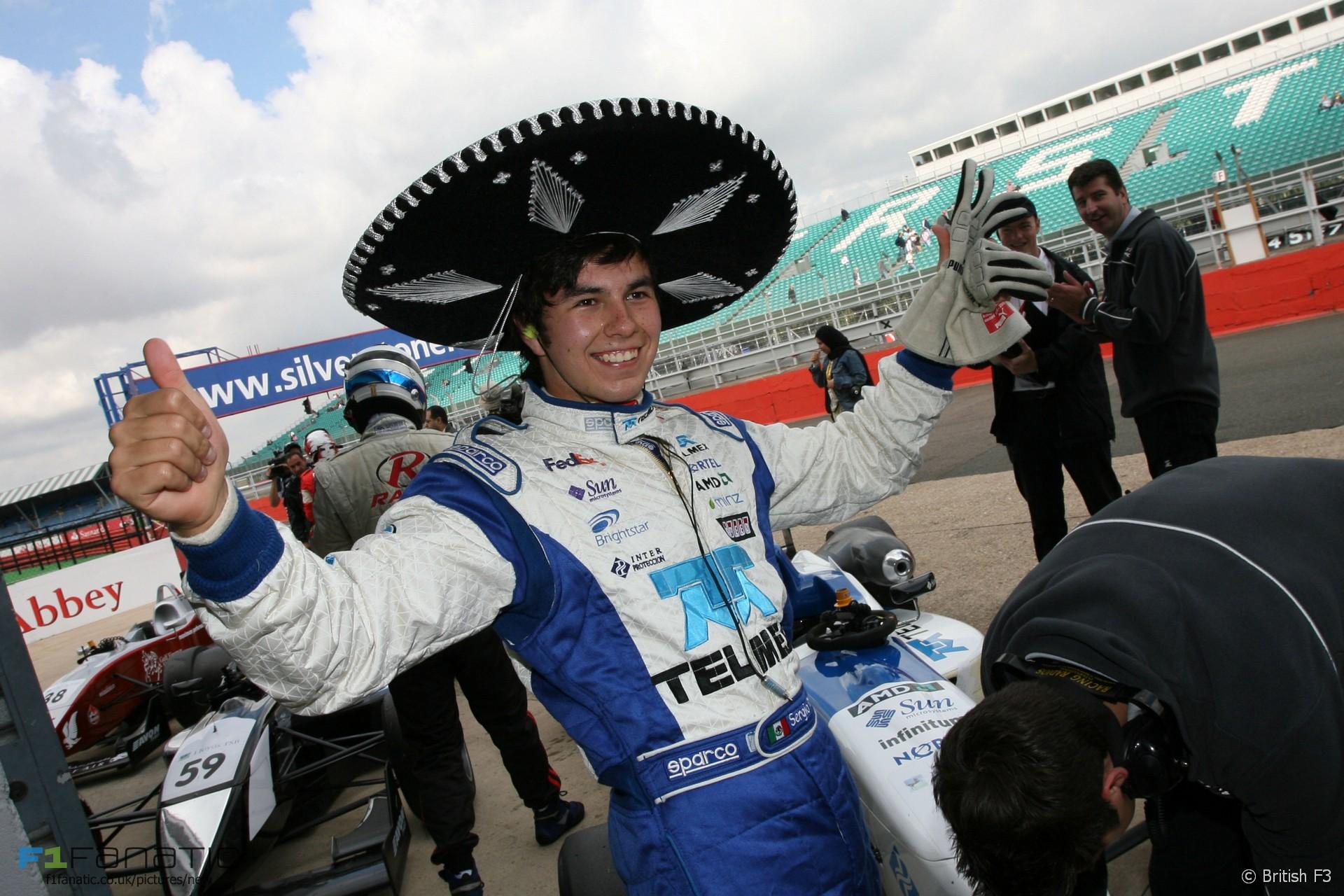 Sergio Perez, T-Sport, British F3, 2008