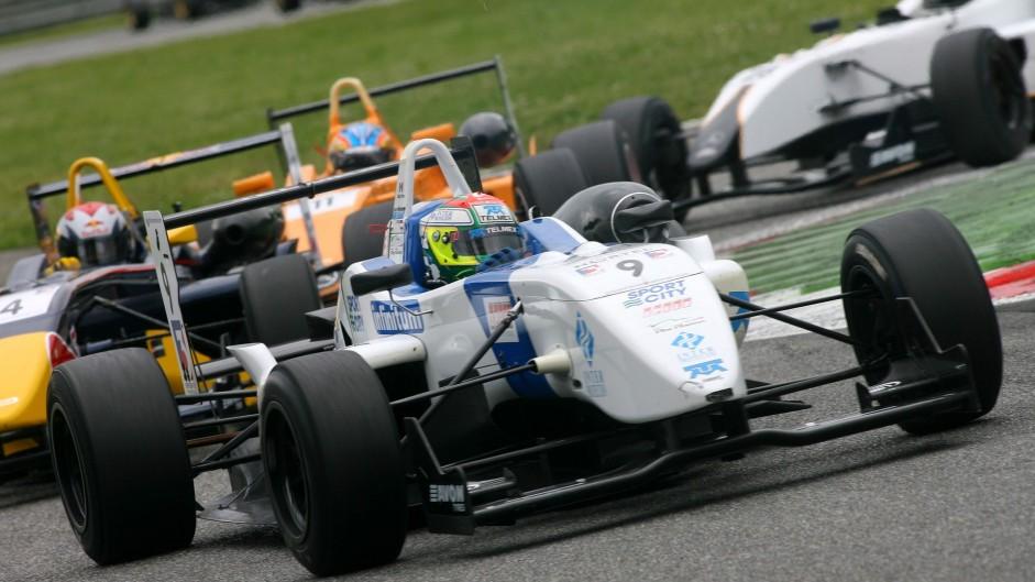 Sergio Perez, T-Sport, British F3, Monza, 2008