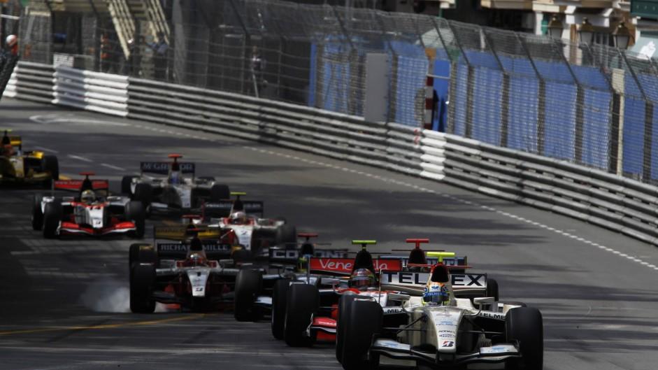 Sergio Perez, GP2, Addax, Monaco, 2010