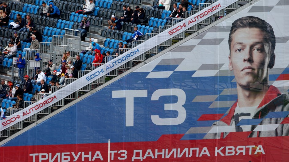 Daniil Kvyat grandstand, Sochi Autodrom, 2015