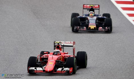 Kimi Raikkonen, Ferrari, Circuit of the Americas, 2015