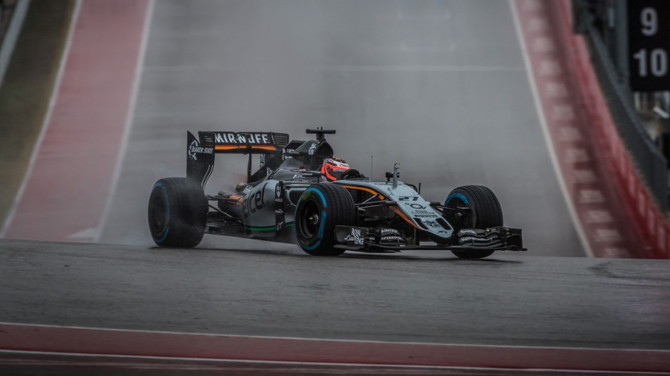 Nico Hulkenberg, Force India, Circuit of the Americas, 2015