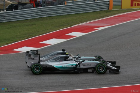 Start, Nico Rosberg, Lewis Hamilton, Mercedes, Circuit of the Americas, 2015