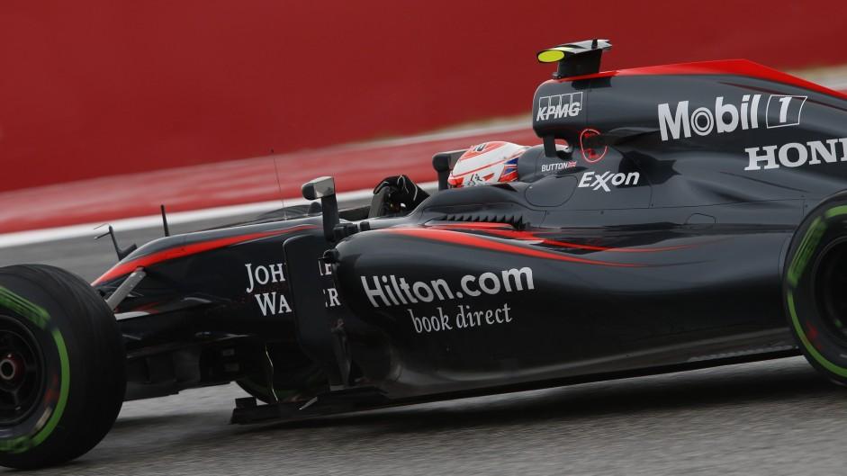 Jenson Button, McLaren, Circuit of the Americas, 2015