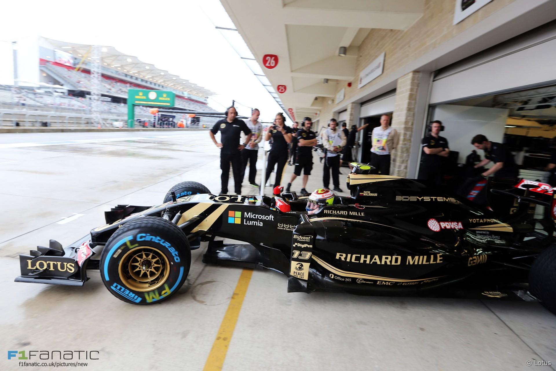 Pastor Maldonado, Lotus, Circuit of the Americas, 2015