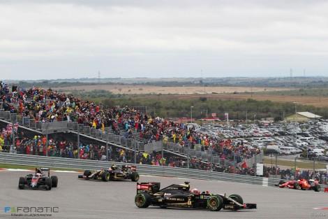 Romain Grosjean, Lotus, Circuit of the Americas, 2015