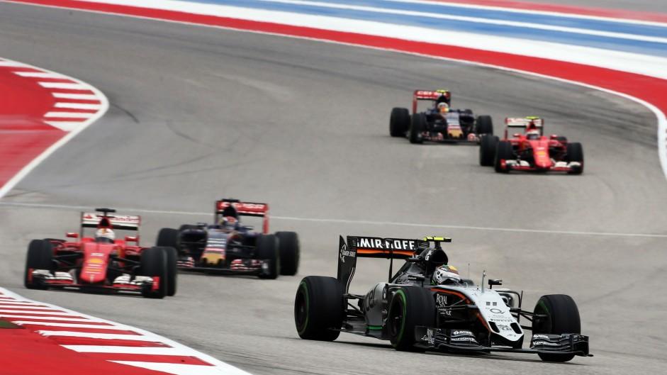 Sergio Perez, Force India, Circuit of the Americas, 2015