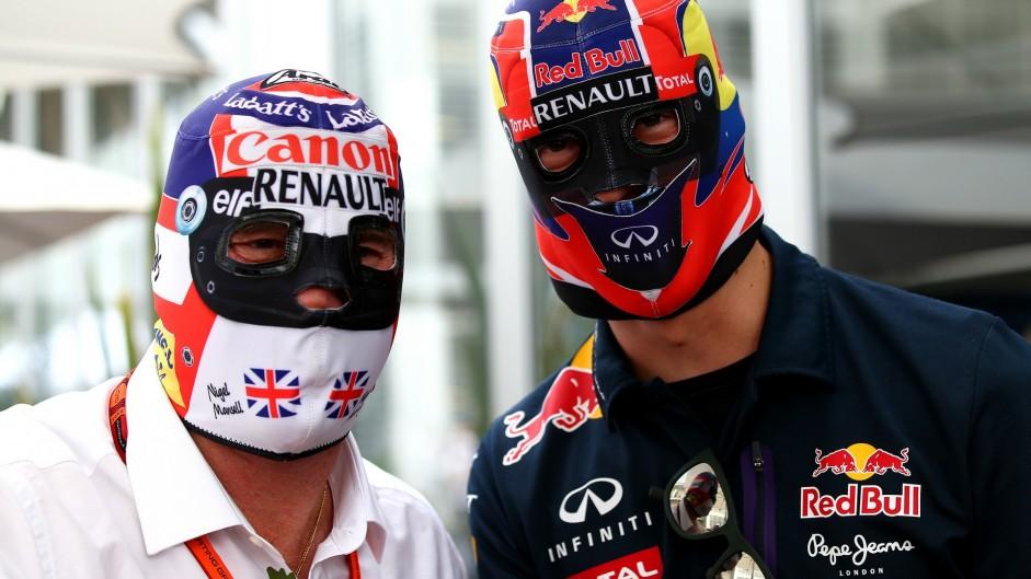 Nigel Mansell, Daniil Kvyat, Autodromo Hermanos Rodriguez, 2015