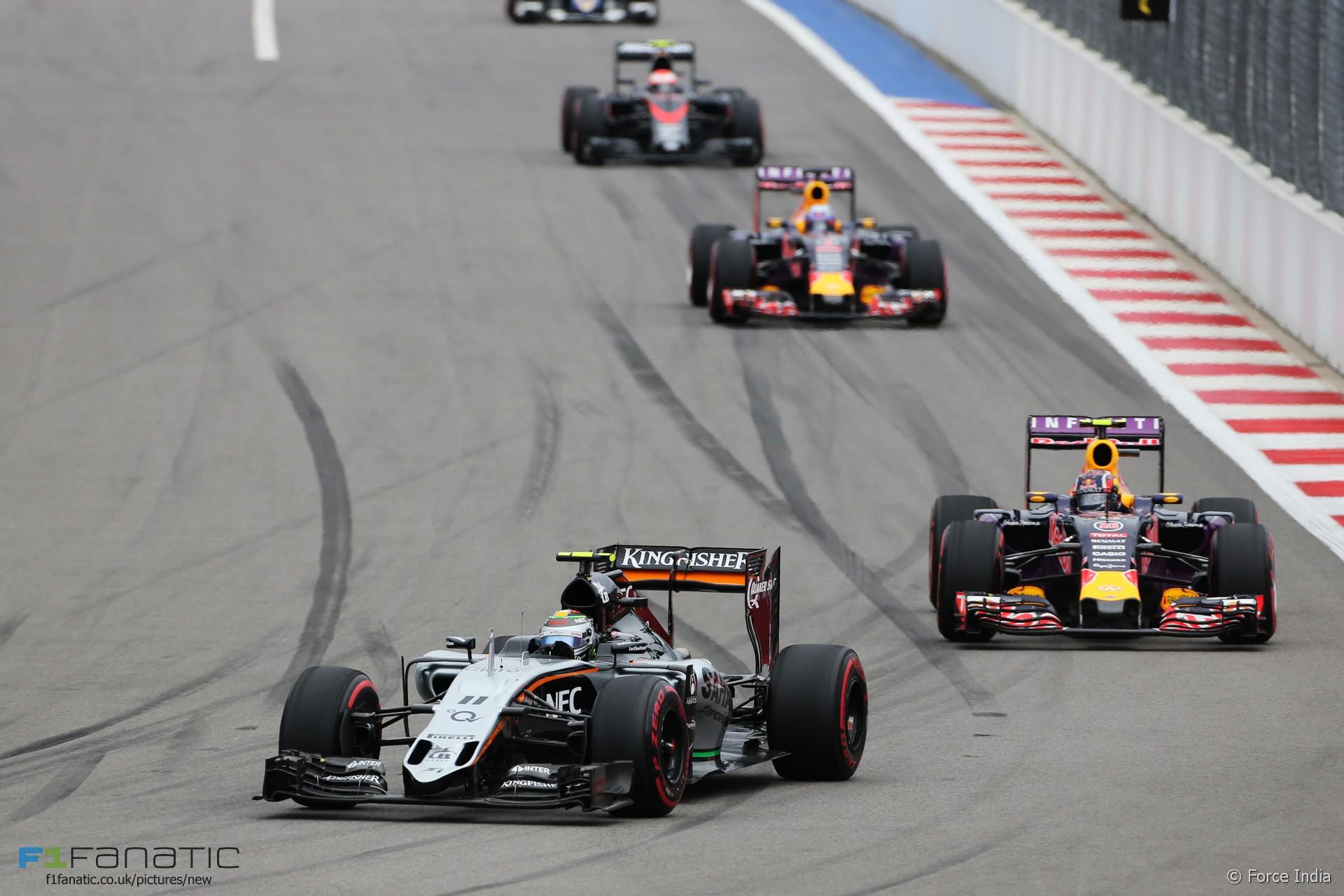Sergio Perez, Force India, Sochi Autodrom, 2015