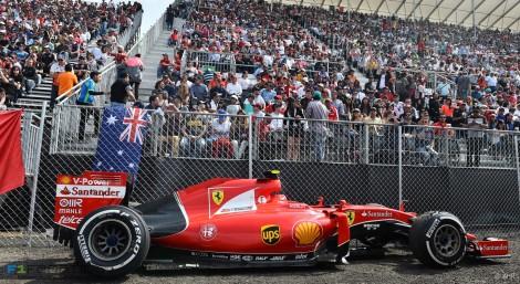 Kimi Raikkonen, Ferrari, Autodromo Hermanos Rodriguez, 2015