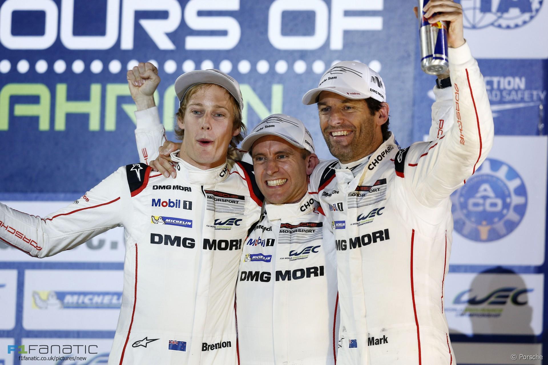 Brendon Hartley Timo Bernhard Mark Webber Porsche