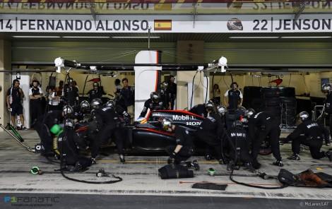 Fernando Alonso, McLaren, Yas Marina, 2015