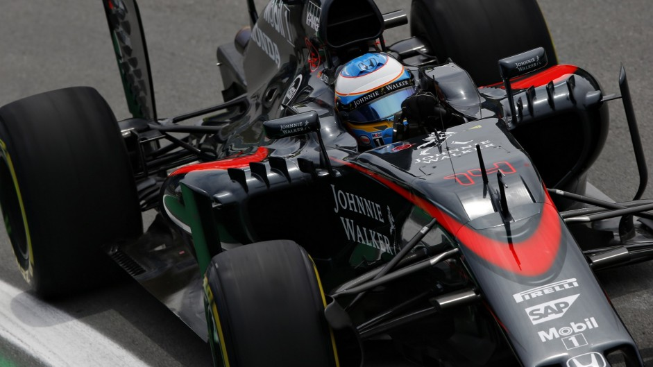 McLaren running 2016 parts on half the car – Alonso
