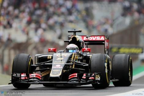 Romain Grosjean, Lotus, Interlagos, 2015