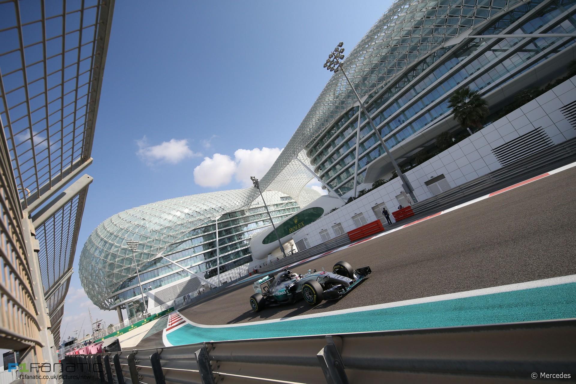 Lewis Hamilton, Mercedes, Yas Marina, 2015