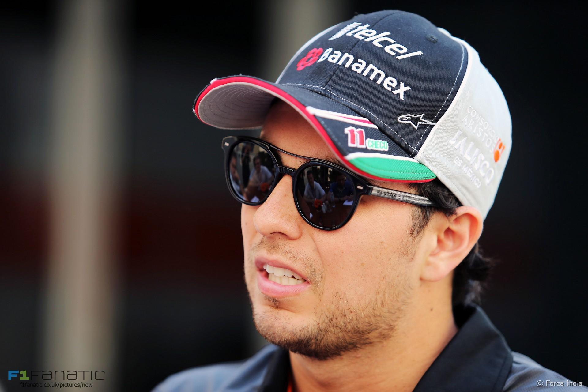 Sergio Perez, Force India, Yas Marina, 2015