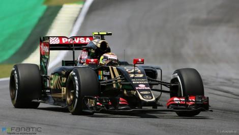 Pastor Maldonado, Lotus, Interlagos, 2015