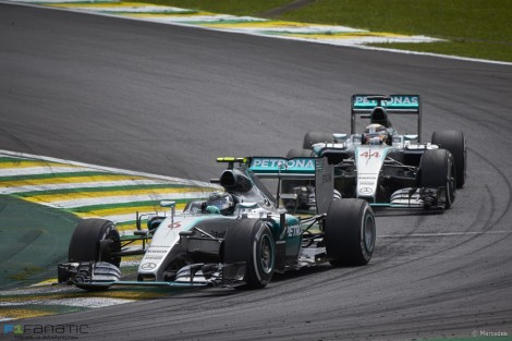 Nico Rosberg, Lewis Hamilton, Mercedes, Interlagos, 2015