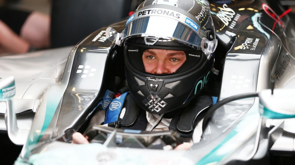 Rosberg makes it six poles in a row despite old engine
