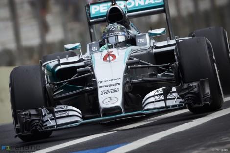 Nico Rosberg, Mercedes, Interlagos, 2015