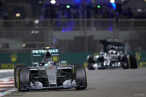 Nico Rosberg, Mercedes, Yas Marina, 2015
