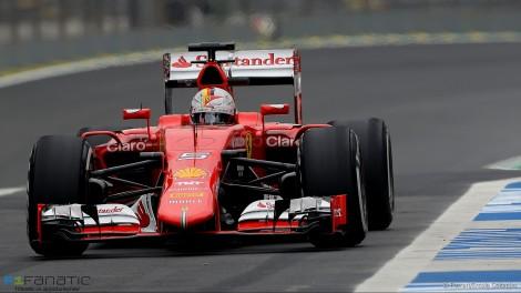 Sebastian Vettel, Ferrari, Interlagos, 2015