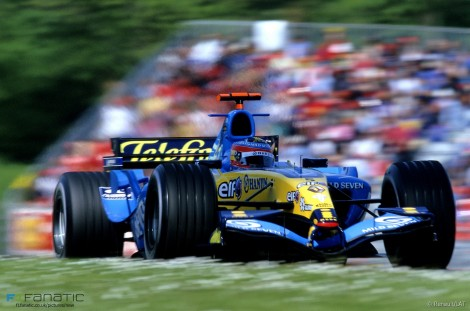 Fernando Alonso, Renault, Imola, 2005