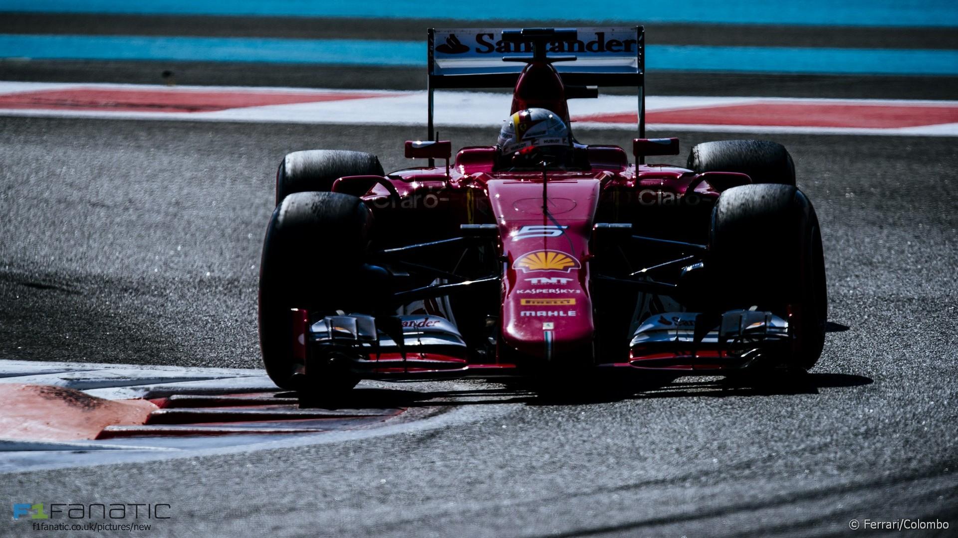 Sebastian Vettel, Ferrari, Yas Marina, 2015
