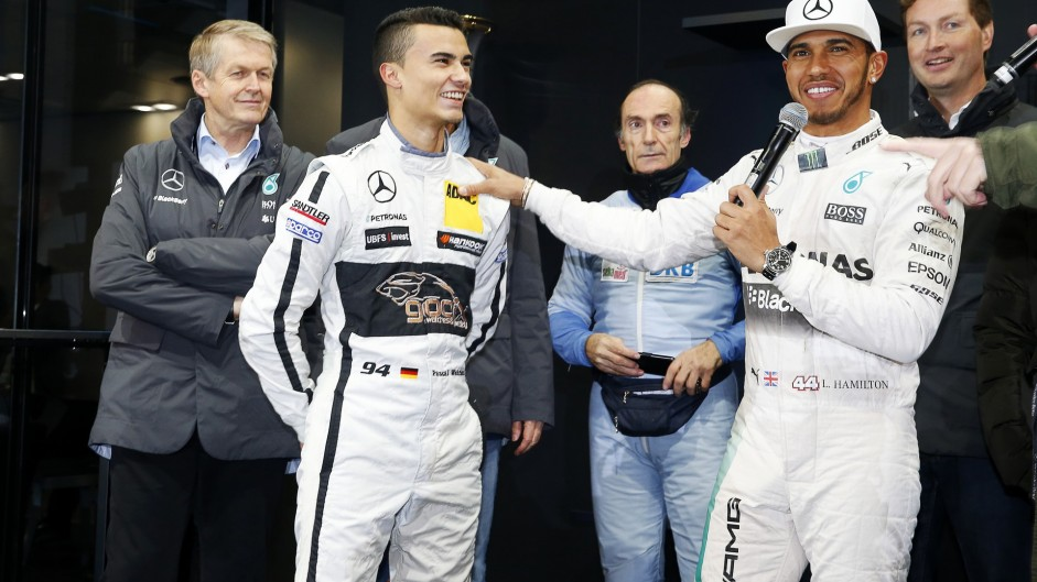 Pascal Wehrlein, Lewis Hamilton, Mercedes Stars and Cars, 2015