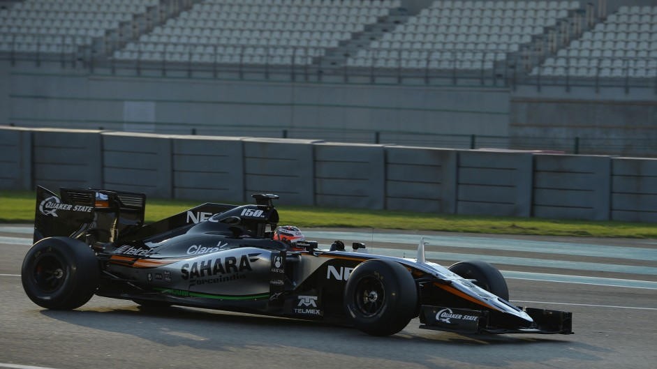 Nico Hulkenberg, Force India, Yas Marina, 2015