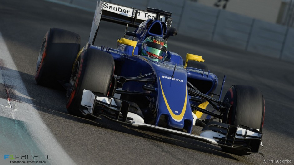 Yas Marina Pirelli tyre test in pictures