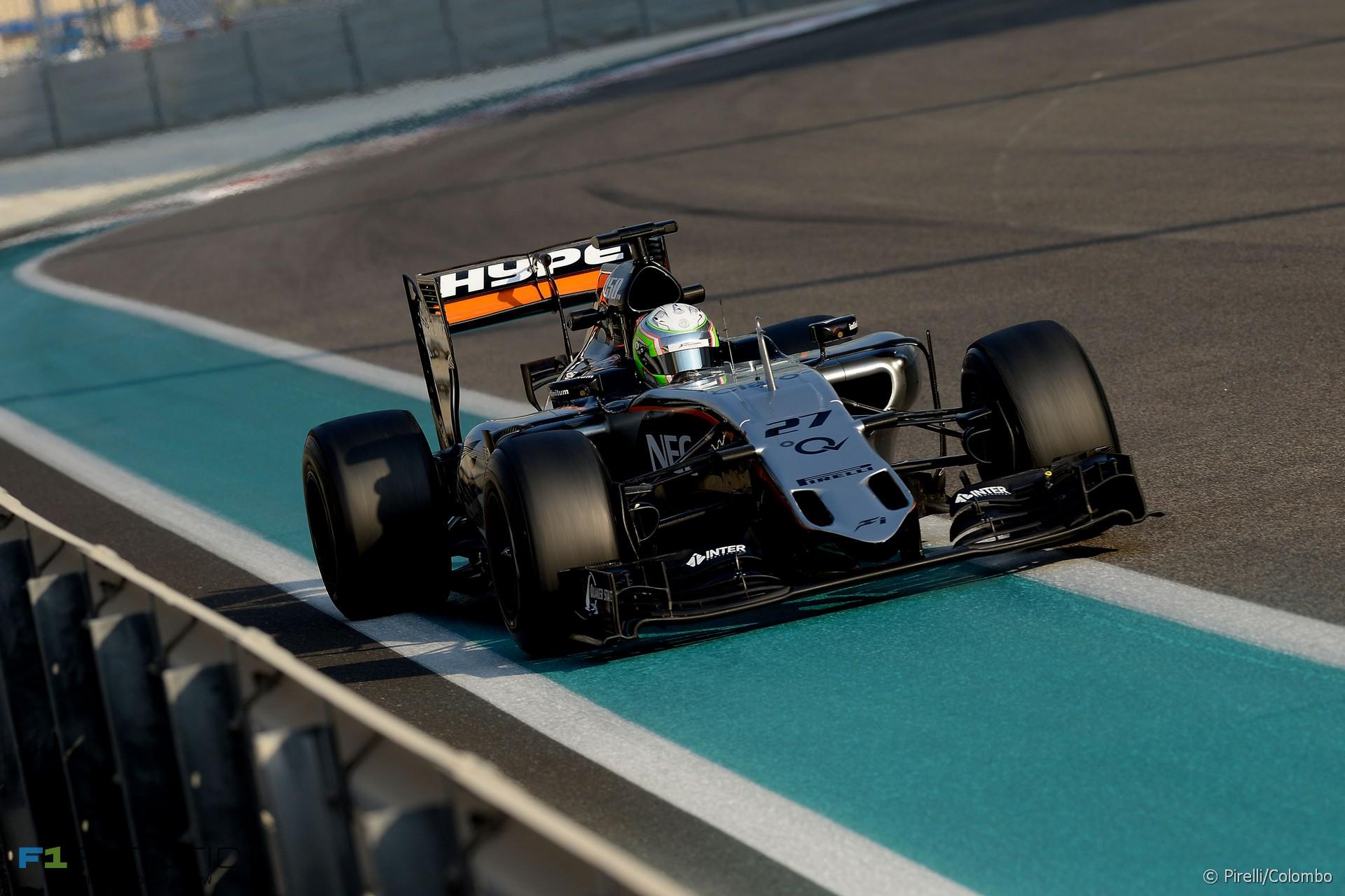Alfonso Celis, Force India, Yas Marina, 2015