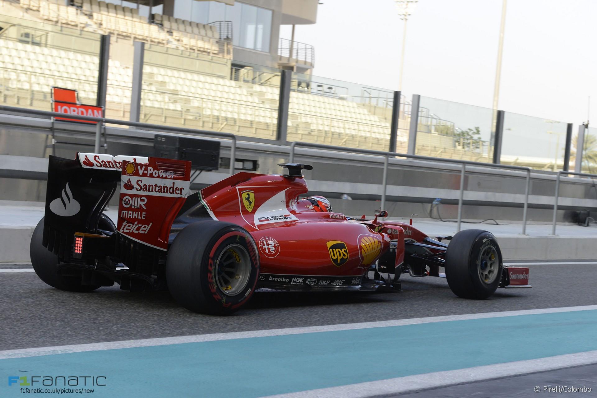 Kimi Raikkonen, Ferrari, Yas Marina, 2015