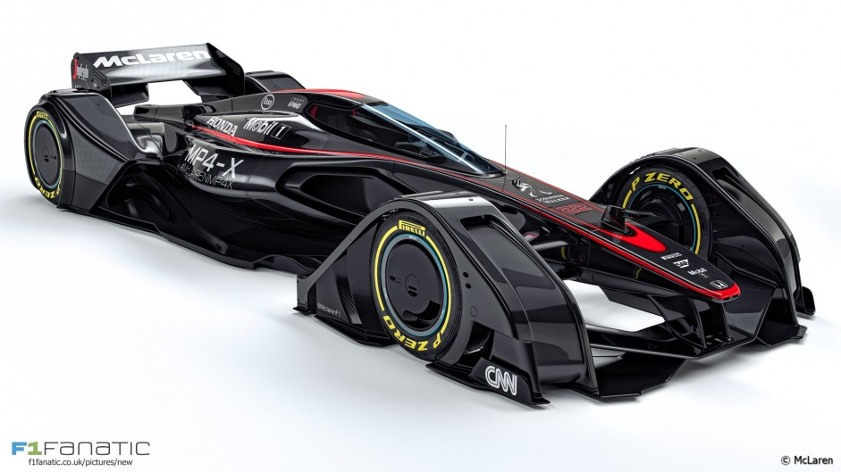 McLaren is latest team to reveal an 'F1 car of the future' design