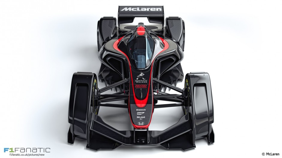 mclaren is latest team to reveal an 39 f1 car of the future 39 design racefans. Black Bedroom Furniture Sets. Home Design Ideas