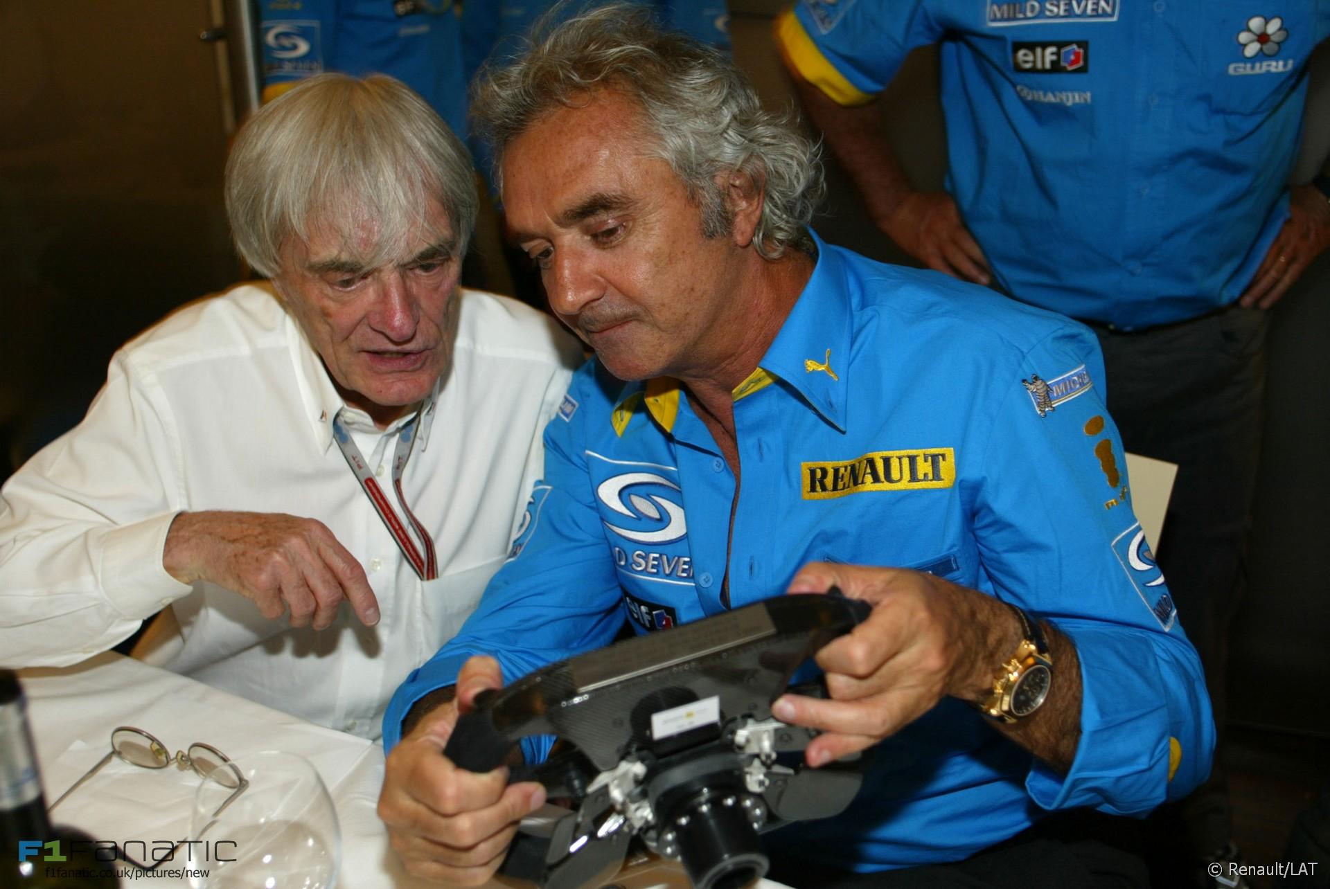 Bernie Ecclestone, Flavio Briatore, Imola, 2005