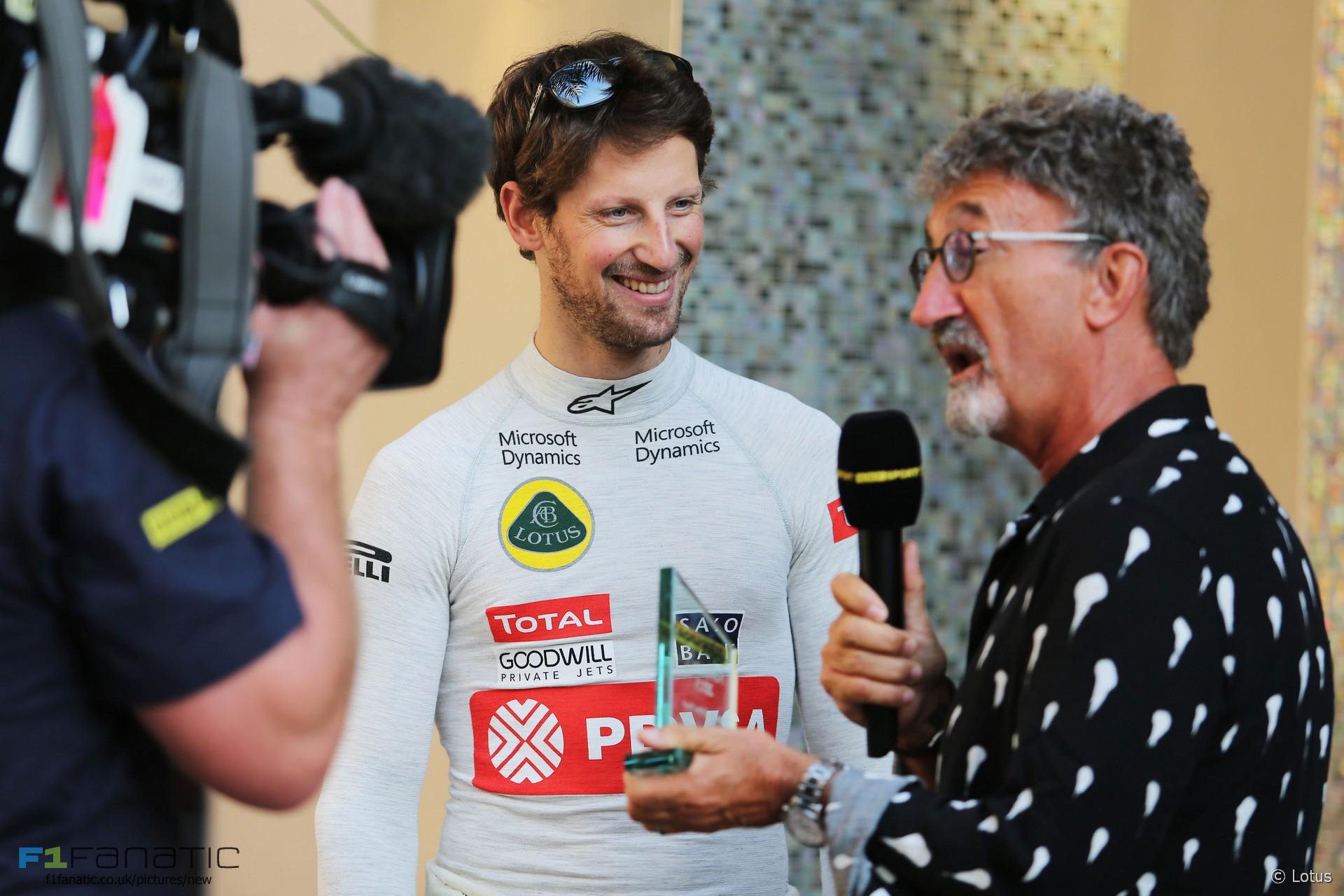 Romain Grosjean, Eddie Jordan, Yas Marina, 2015