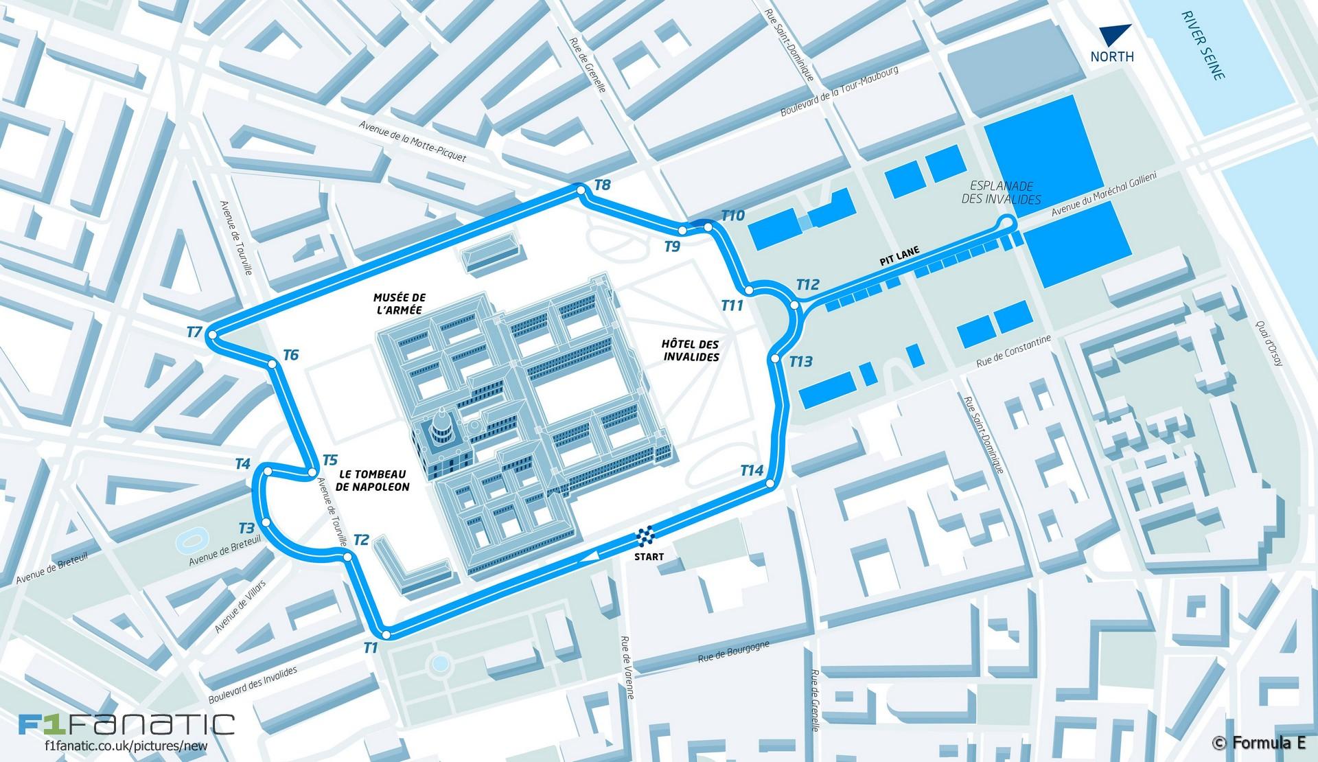 Paris Formula E track