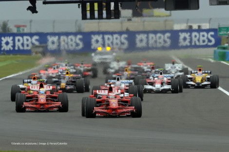 Start, Magny-Cours, 2008