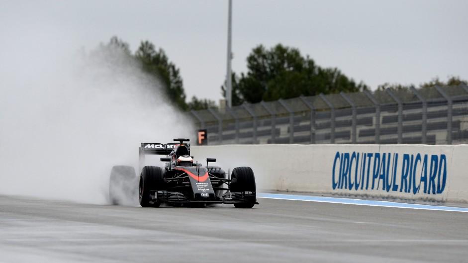 Stoffel Vandoorne, McLaren, Paul Ricard, 2016