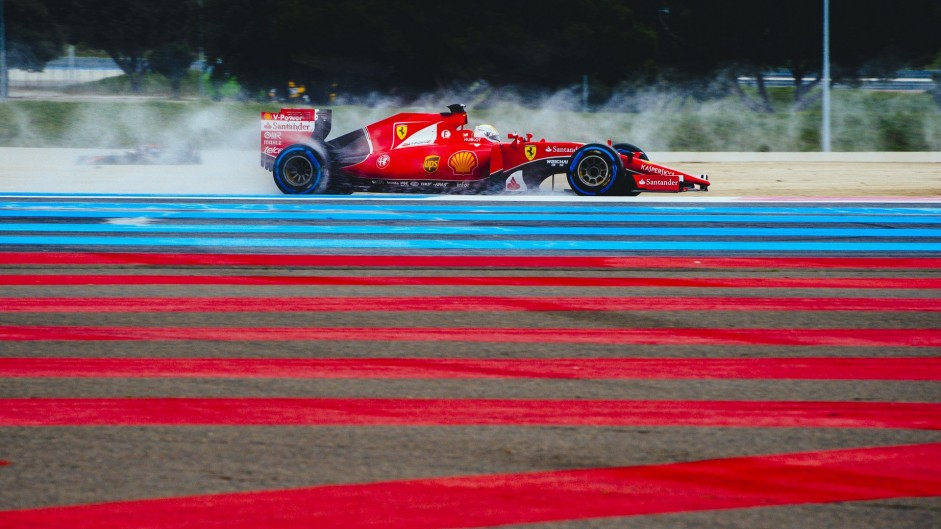Vettel on top as wet tyre test concludes