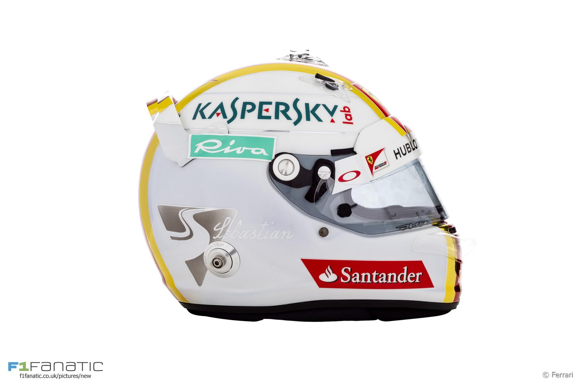 Sebastian Vettel helmet, 2016