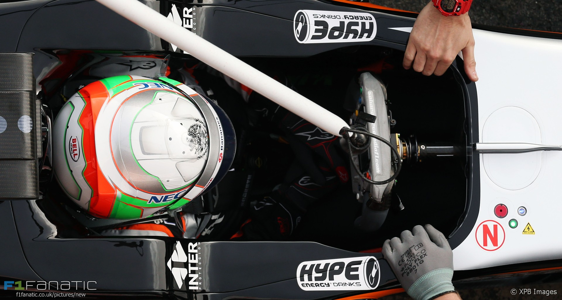 Steering wheel, Force India VJM09, 2016