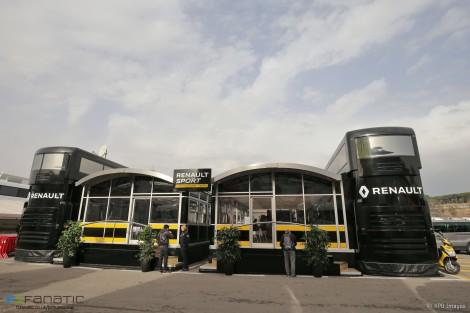 Renault motorhome, Circuit de Catalunya, 2016