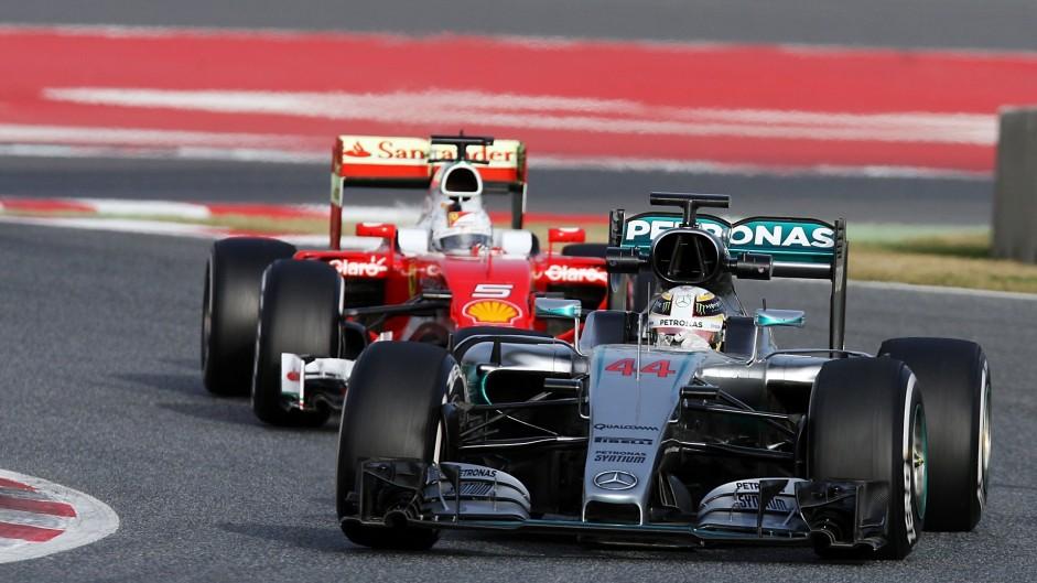 Lewis Hamilton, Sebastian Vettel, Circuit de Catalunya, 2016