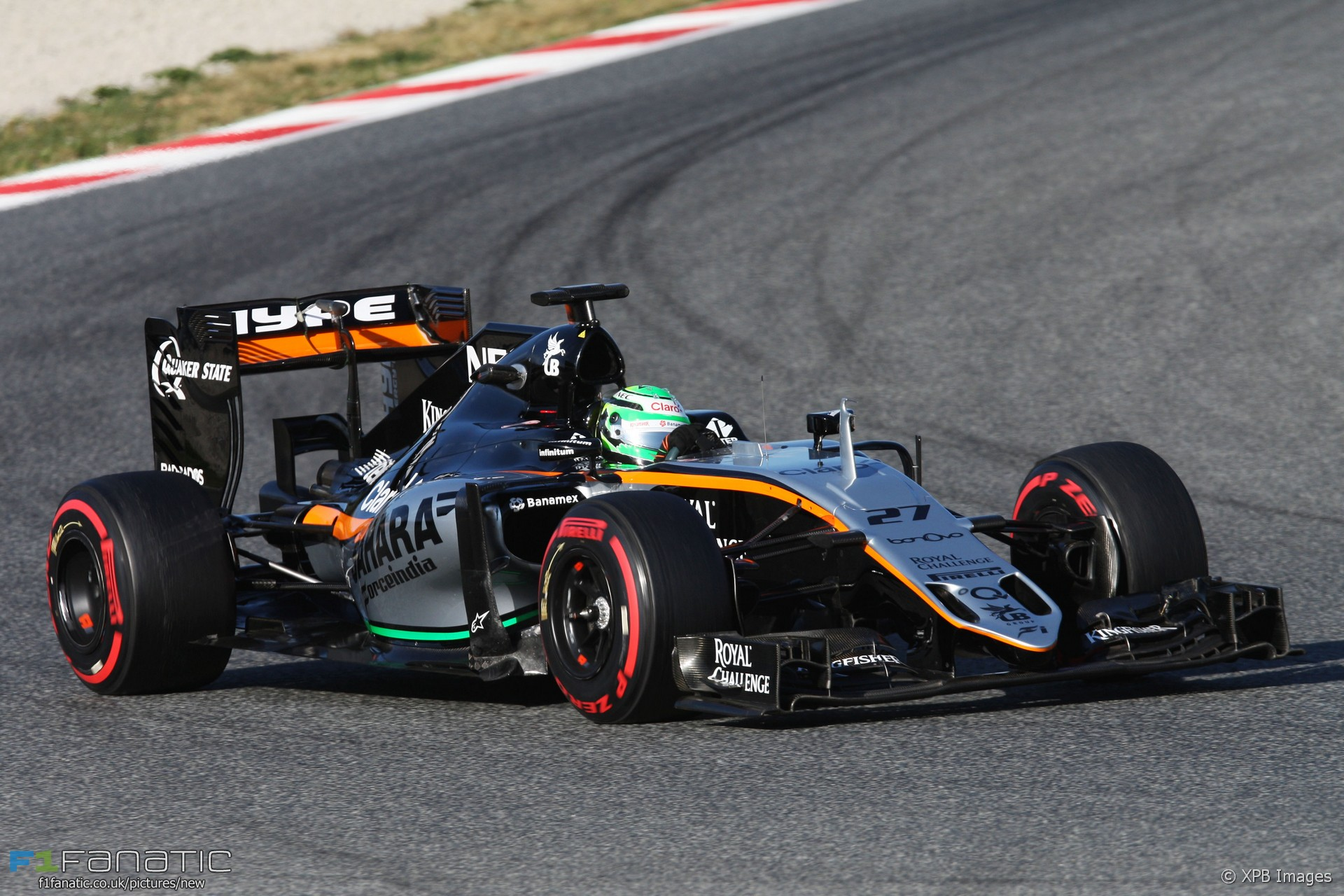 Nico Hulkenberg, Force India, Circuit de Catalunya, 2016