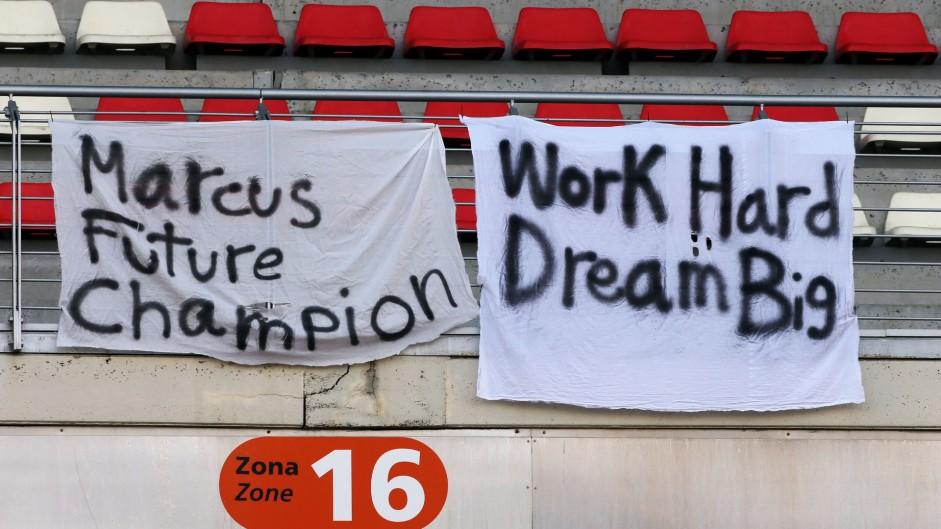 Marcus Ericsson fans' banner, Circuit de Catalunya, 2016