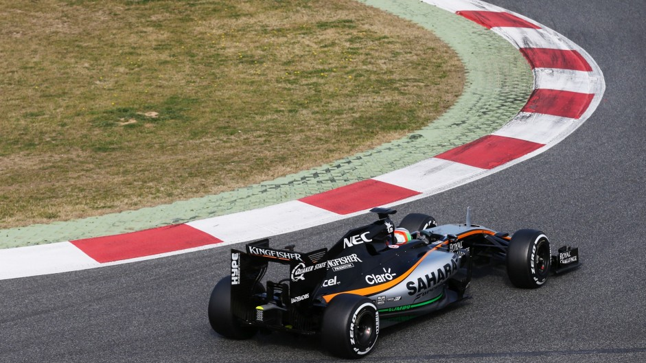 Alfonso Celis, Force India, Circuit de Catalunya, 2016