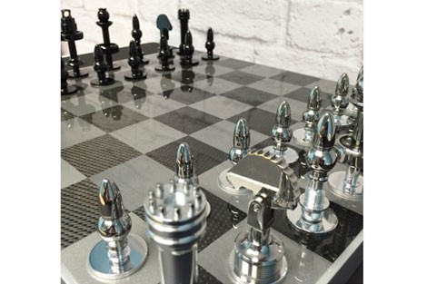 F1 'raced' chess set